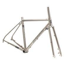 SEABORAD хромированный дорожный велосипедная Рама с вилкой 700C классический циклокросс Cr-mo Frameset дисковый тормоз 4130 тепловая обработка стальной рамные вилки
