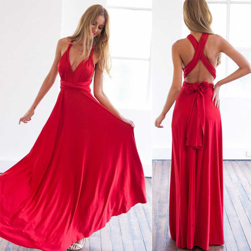 Sexy Women Bridesmaid Multiway Dresses Long Formal Wedding Bridesmaids Vestido Gowns Infinity Dress Boho Maxi Dinner Party Dress