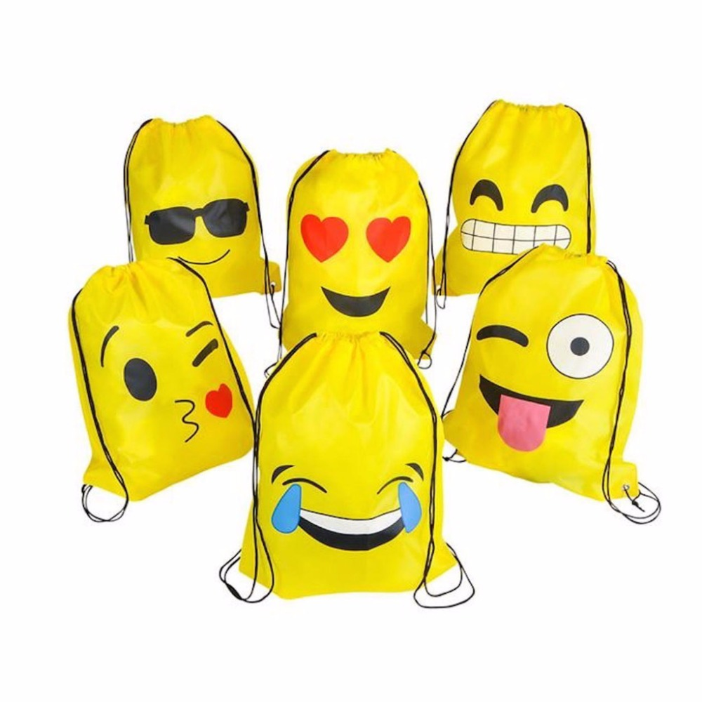 Children Kids Cute Mini Backpacks Emoji Drawstring Bookbags Assorted Emoticon Party Favors Yellow 12 Pack 6 kinds THINKTHENDOChildren Kids Cute Mini Backpacks Emoji Drawstring Bookbags Assorted Emoticon Party Favors Yellow 12 Pack 6 kinds THINKTHENDO