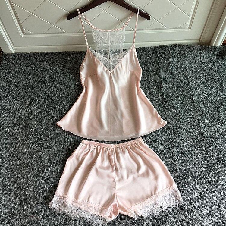 e541cbdefc Nos de las mujeres de la moda 2 piezas de terciopelo ropa de dormir Sexy  Spaghetti