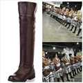 Free Shipping Attack on Titan Cosplay Costume Boots Shingeki no Kyojin Survey Legion Ergen Shoes New Pu Leather