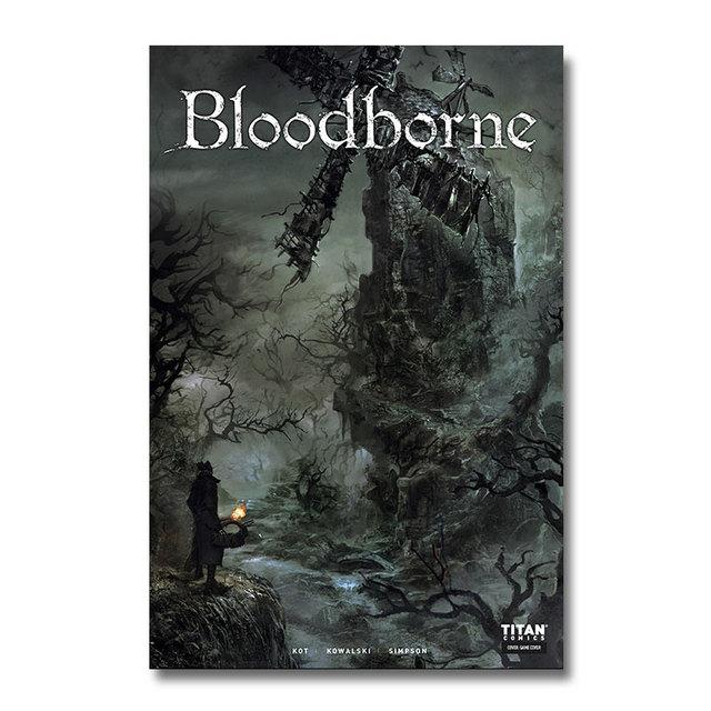 Плакат гобелен bloodborne шелк