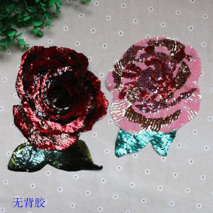 2db / tétel 20 * 16cm új flitter rózsaszín / bor vörös rózsa - Művészet, kézművesség és varrás
