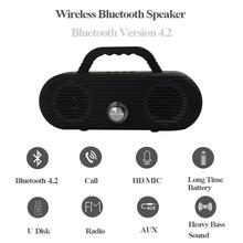 CM86 Portable Bluetooth Speaker Outdoor wireless column Waterproof Computer Speaker Soundbox With TF Card And USB FM radio