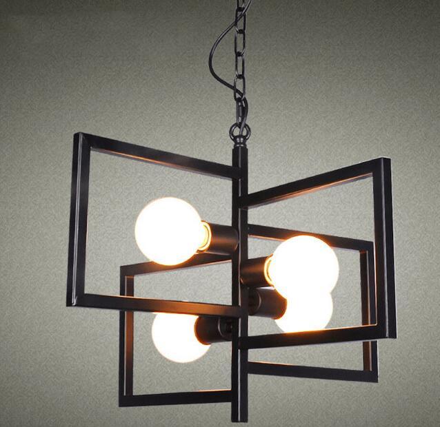 online krijg goedkoop zwarte vierkante metalen hanglamp