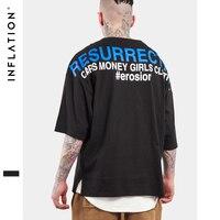 인플레이션 2017 여름 컬렉션 높은 거리 남성 Tshirt