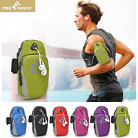 FREE KNIGHT Sports Armband Running Flip Bag women Case for phone small bags men's Universal Earphone Holes Keys Arm Bags Pouch