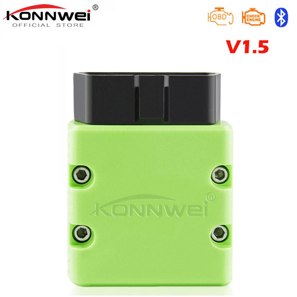 KONNWEI OBD2 Scanner KW902 ELM327 V1.5 Bluetooth Autoscanner PIC18f25k80 MINI ULME 327 OBDII KW902 Code Reader für Android-Handy
