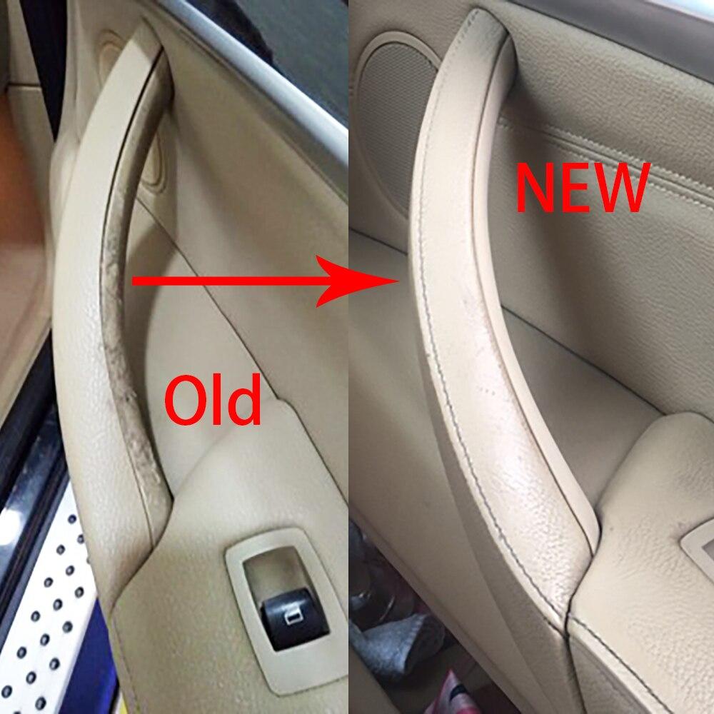 Nouveau style de voiture droite gauche panneau de porte intérieure poignée tirer revêtement d'habillage Auto accessoires intérieurs pour BMW E70 X5 E71 E72 X6 SAV