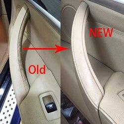 Nowy samochód stylizacji prawy lewy wewnętrzny uchwyt drzwi osłona wykończeniowa do naciągania akcesoria do wnętrz samochodowych dla BMW E70 X5 E71 E72 X6 SAV Klamki do drzwi wewnętrznych    -