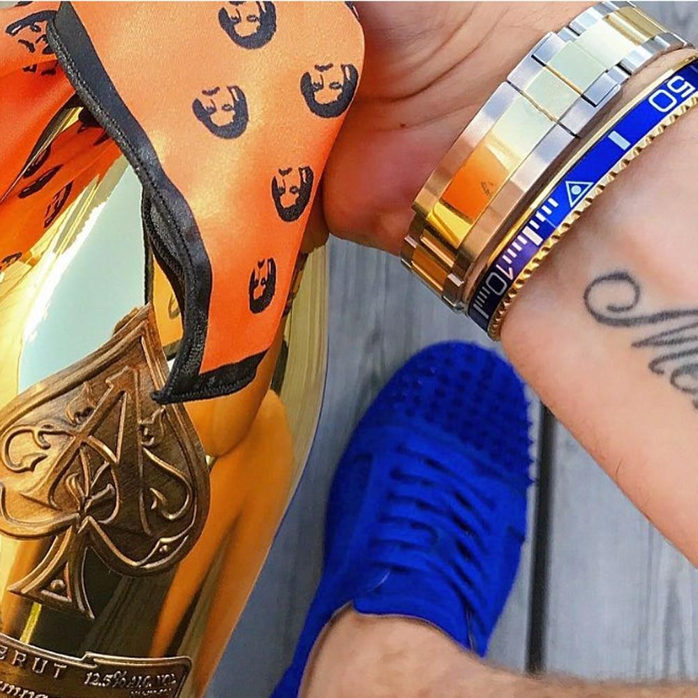 Beichong Classique Bracelet Compteur De Vitesse Officielle 316l En Acier Inoxydable Montre Cadran Compteur De Vitesse Bracelet Bracelet Bijoux
