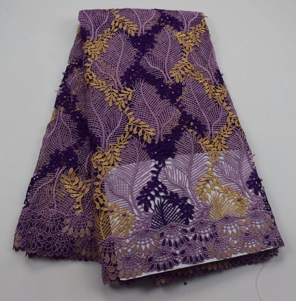 Best Selling 2018 Products African Guipure Lace Fabric Purple Nigerian Lace Fabric High Quality For WeddingBest Selling 2018 Products African Guipure Lace Fabric Purple Nigerian Lace Fabric High Quality For Wedding