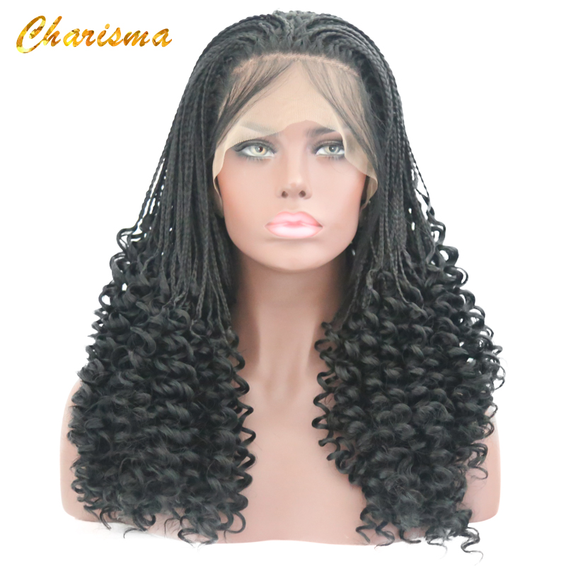 Charisma Handmade Braids Long Curly Synthetic Lace Front ...