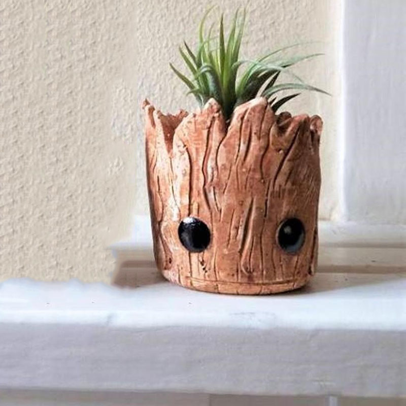 Groot Planter Gift Set Baby Groot Air Plant Groot Pot Groot flower pot Groot Planter Pot in Flower Pots Planters from Home Garden