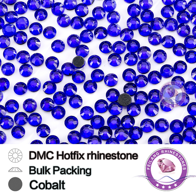 Cobalt SS6 SS10 SS16 SS20 SS30 Bulking Packing HotFix Rhinestone For Garments Bags And Shoes