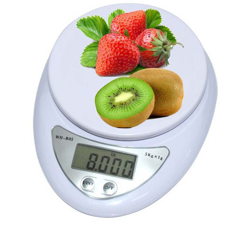 5kg*1g Precision Digital Scale Kitchen Food Diet Postal Scales Balance Weight Electronic Scale Weighting LED Electronic Scale