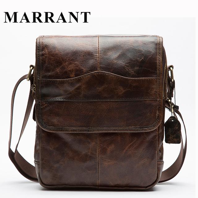 Homens saco pequeno crossbody sacos de ombro bolsa de couro genuíno do vintage sacos de homens mensageiro bolsas de couro dos homens casuais saco marrant