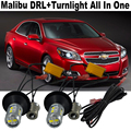 2x New Design Car LED light For Chevrolet Malibu 20W DRL LED Daytime Running Lights DRL&Front Turn Signals  All In One