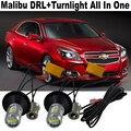 2x Novo Design Do Carro LEVOU luz Para Chevrolet Malibu 20 W DRL LEVOU luz de Circulação Diurna Luzes DRL & Frente Sinais de Volta Tudo Em um