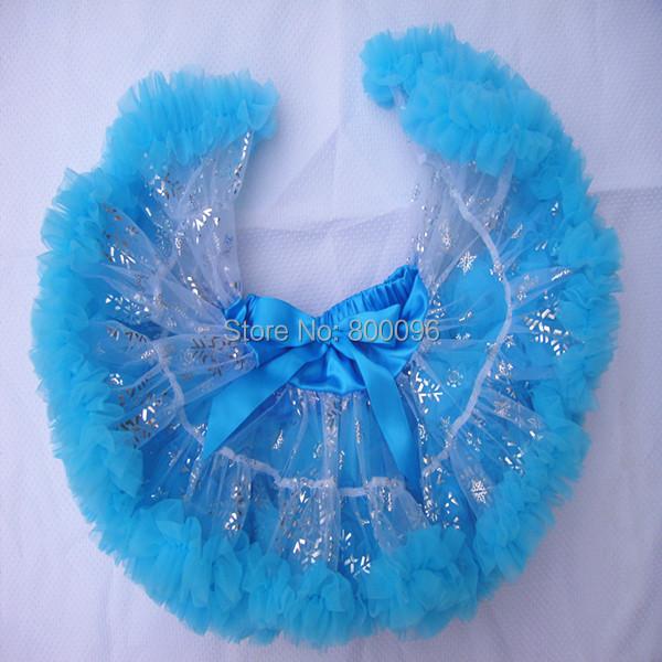 Moda de los bebés pettiskirt mullido elsa faldas encantadoras del partido faldas ropa bebé PETS-173