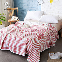 Flannel Coral Blanket Striped Style 6 Colors Fleece Blanket Children Boy Girl Adult Bed Blanket Sheet