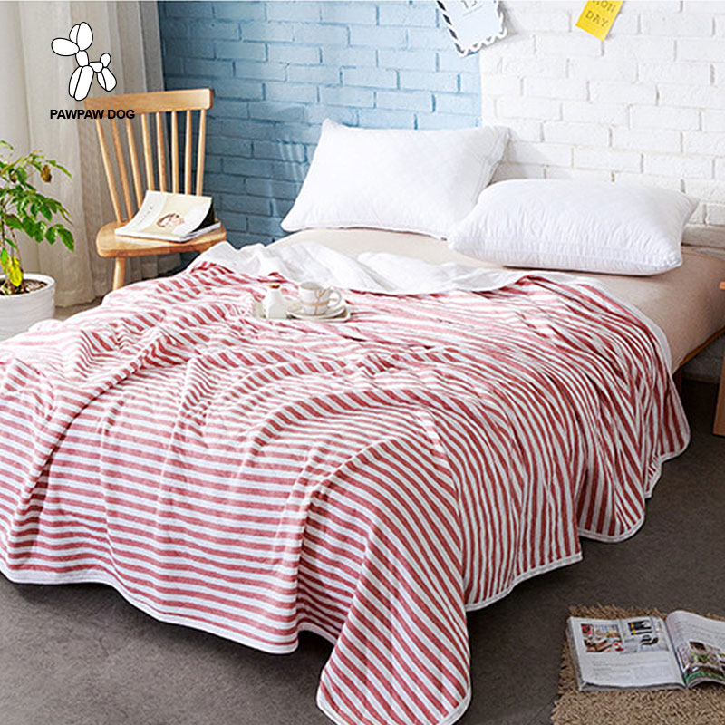 Flannel Coral Blanket Striped Style 6 Colors Fleece Blanket Children Boy Girl Adult Bed Blanket Sheet Travel Portable Blanket