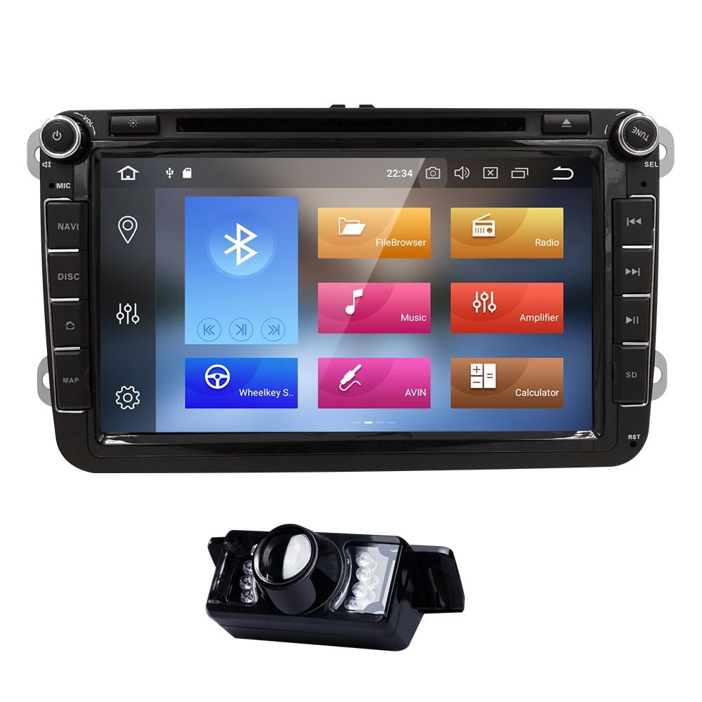 Hizpo AutoRadio 2 Din Android 8.0 DVD de voiture pour volkswagen skoda octavia 2 3 superbe 2 VW T5 passat b6 seat ibiza golf 5 6 touran