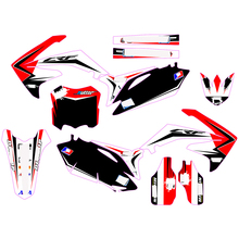 Voor Honda Cfull Stickers Graphics RF250 Crf 250 2010 2011 2012 2013 CRF450 Crf 450 2009 - 2012 Diy Aanpasbare nummer Decal