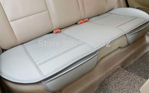 Image 3 - 대나무 자동차 좌석 쿠션 숯 가죽 자동차 모 놀리 식 커버 뒷좌석 뒷좌석 사계절에 적합 1pcs 뒷좌석