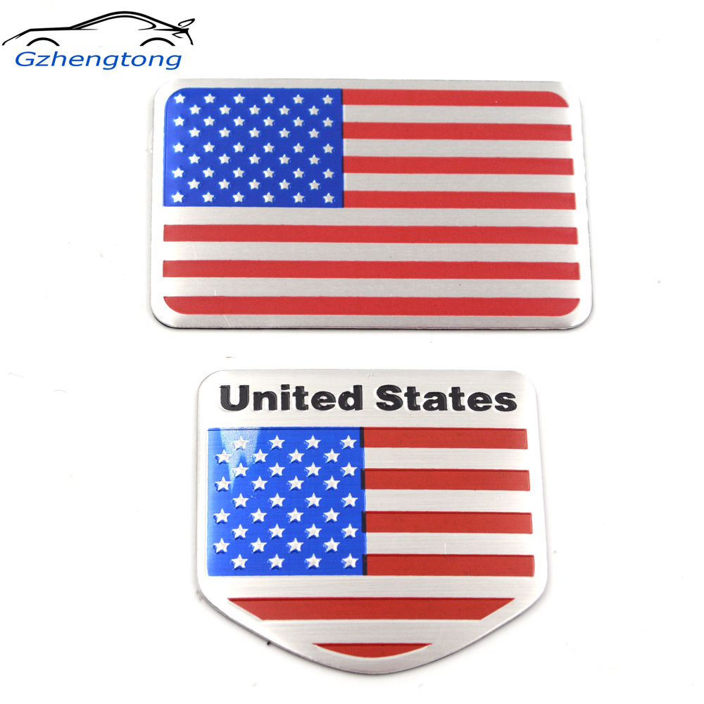 US USA America Flag Sticker Universal Emblem Auto Car Metal Decal 3D Logo Badge
