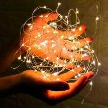 3-10 м гирлянда из медной проволоки светодиодный светильник-гирлянда праздничное украшение для помещений Сказочный светильник Рождественский год свадебный подарок DIY декоративный светильник PD034