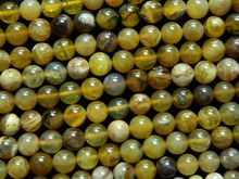 Envío Gratis natural 8mm verde amarillo opal smooth granos flojos redondos para la joyería que hace