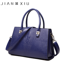 JIANXIU Women Pu Leather Handbags Messenger Bags Crocodile Pattern Handbag Shoulder Bag Big Tote Bolsas Feminina 2017 Sac a Main