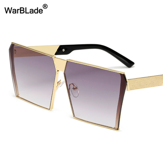5c0d05e650d WarBLade 2018 Square Hip Hop Eyewear Clear Sunglasses Men Women Mirror Sun  glasses Lady Flat Oversized Transparent Eyeglasses
