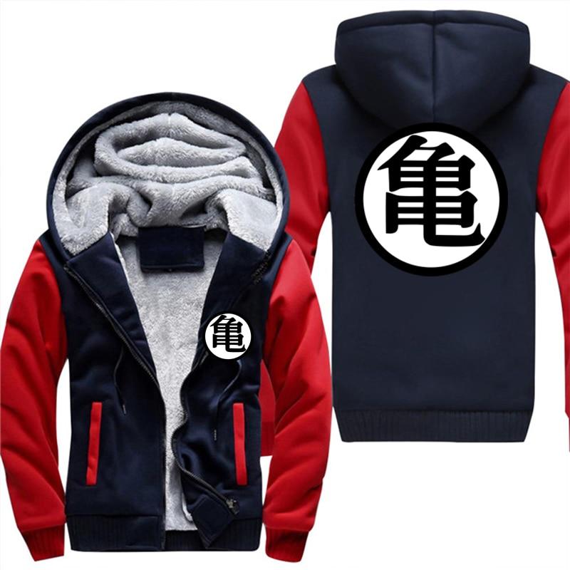 Super Saiyan Casual Sweatshirt Men 2018 Autumn Winter Brand Streetwear Harajuku Mens Jacket Hoodies Dragon Ball Z Thick Coats At All Costs Men's Clothing