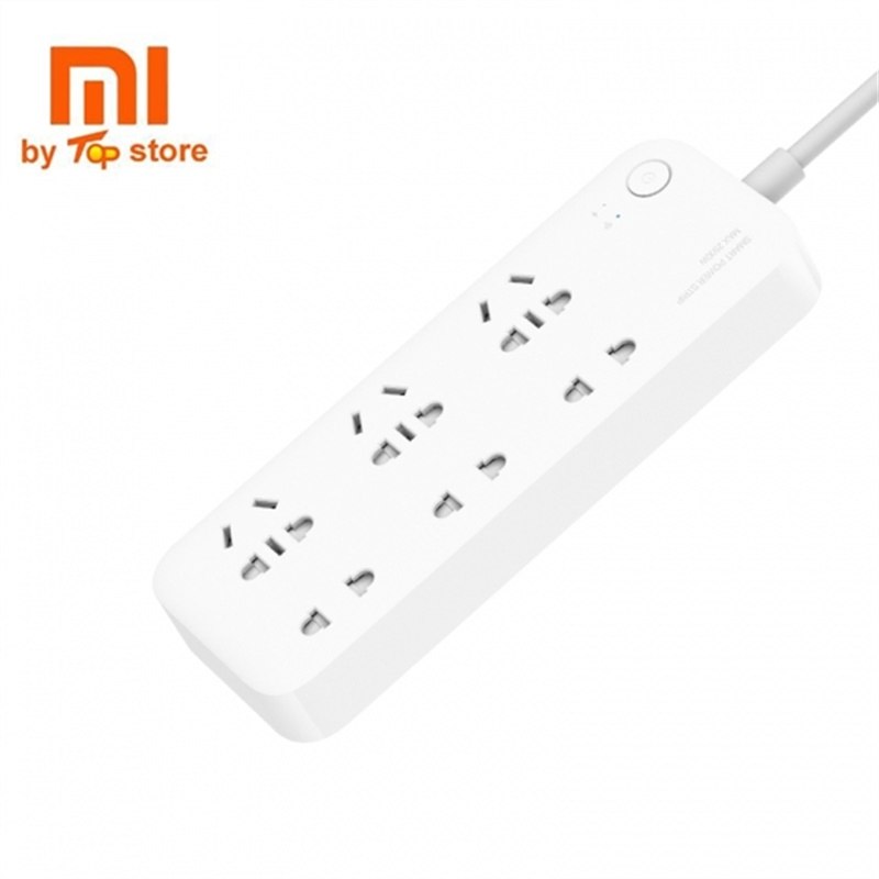Oringinal Xiaomi Mijia Smart 6 Port Electrical Socket Timing Switch Patch Board APP WIFI Remote Control Power Strip Outlet Plug
