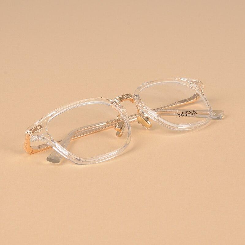 Excellent Transparent Men Women's Glasses Frames New Fashion Trendy Female Male Optical Eyewear Lens Replaceable Myopia Frames