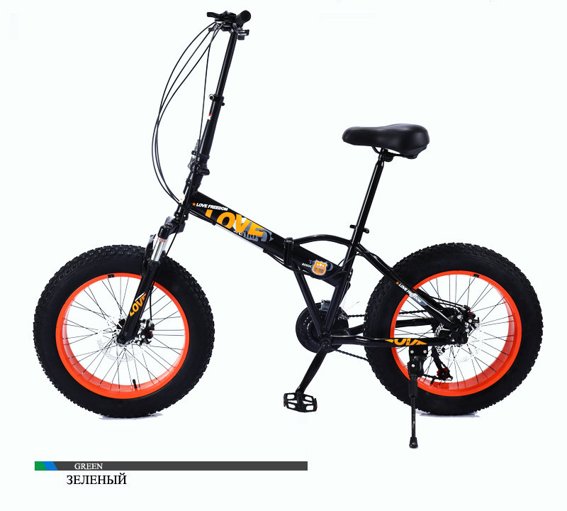 Folding bicycles for men and women snow bicycles portable bicycle shifting shock absorption small wheel 20 inch mountain bike