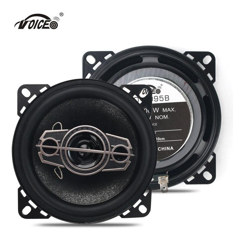 4 Inch Car Speaker Paired Automobile Automotive Auto Coaxial Loudspeaker 200W 4ohm 10cm Audio Acoustics Sound