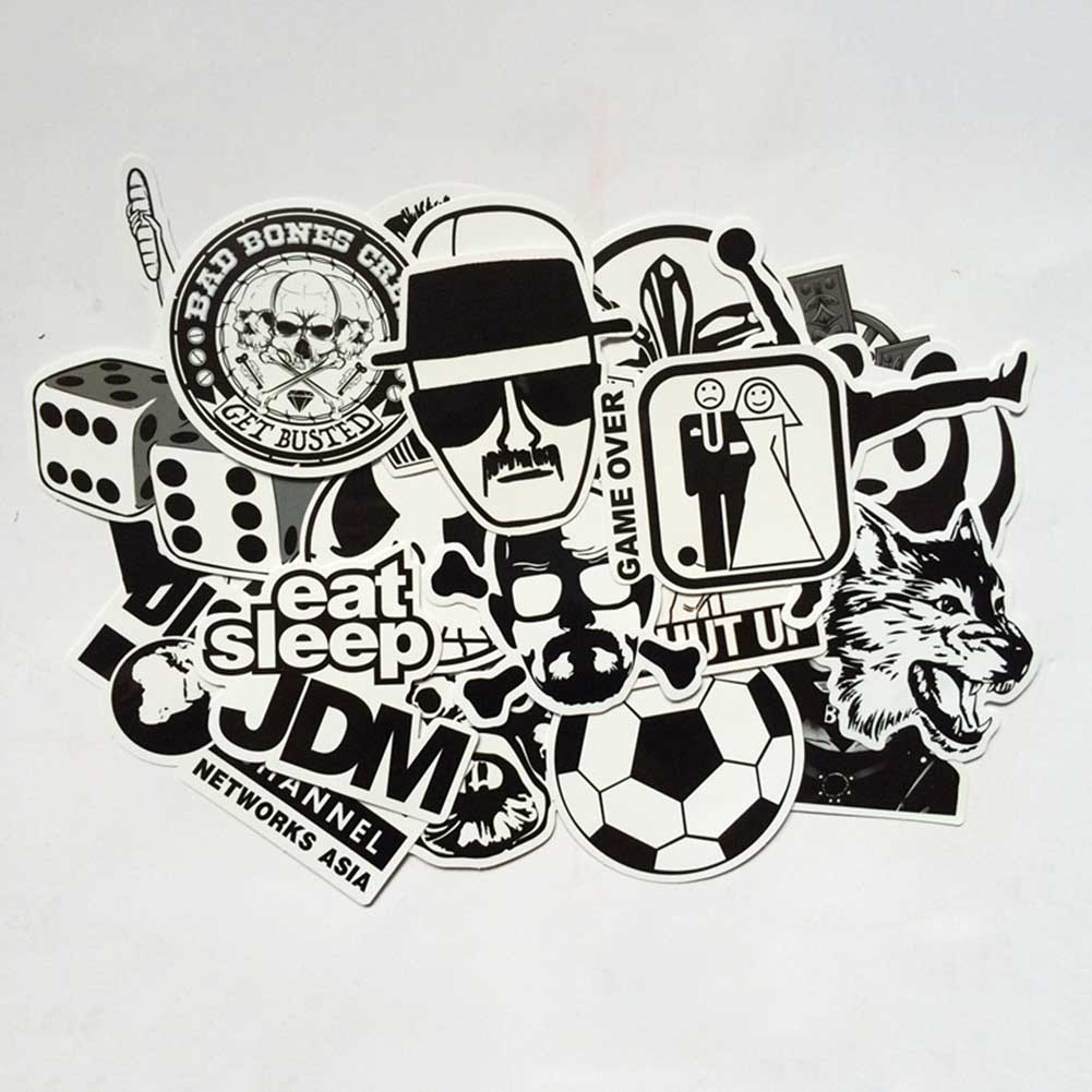 US $2 21 10% OFF|60pcs/set mixed Waterproof graffiti sticker home decor  Doodle laptop Motorcycle Car Stickers Cartoon decals Accessories-in Wall