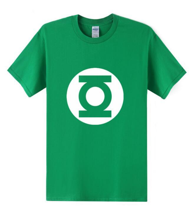 2016 New Green Lantern   t     shirt   Men The Big Bang Theory   T  -  shirt   Top Quality Cotton Sheldon Cooper Super heroT   Shirts   Men