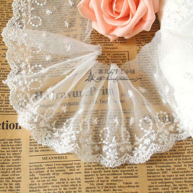 Free shipping 10meter /lot 10cm 3.93 wide white lace trims, diy lace ribbons lace accessary Z168