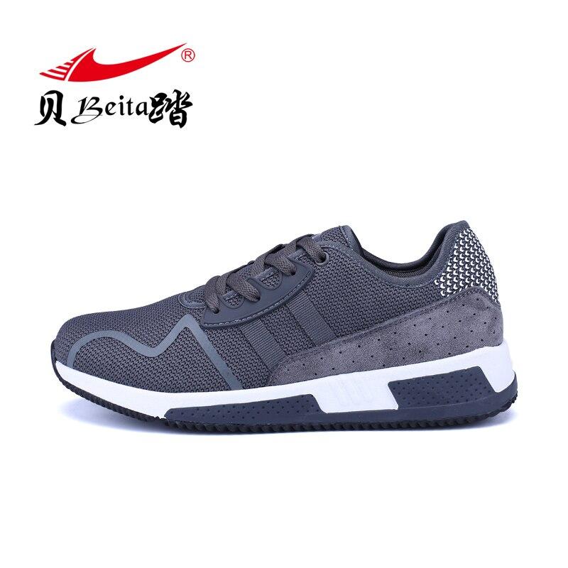 Beita/спортивная обувь для студентов, Новинка осени 2019, мужские кроссовки для бега с воздушной подушкой, теннисные кроссовки с вязаной несколь
