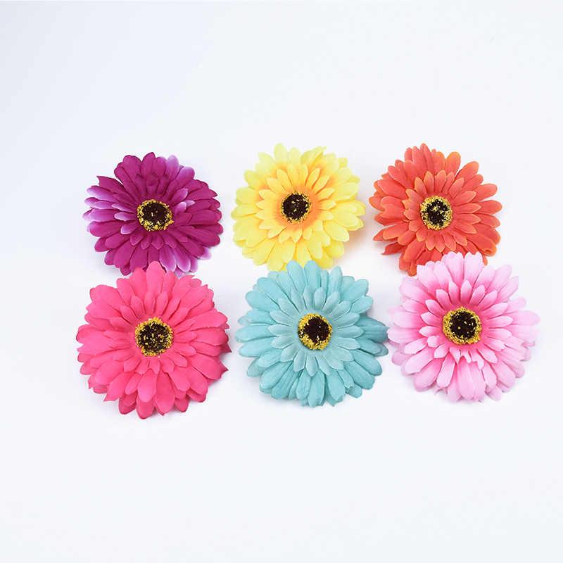 10 CENTÍMETROS guirlanda casamento flores Artificiais baratos decorações de natal para casa diy plantas falsas flores gerbera seda margarida de plástico