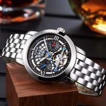 2016 LIGE Men's Luxury Brand sport Mechanical Watches Hollow Skeleton automatic watch Relogio Masculino Business Relojes Hombre