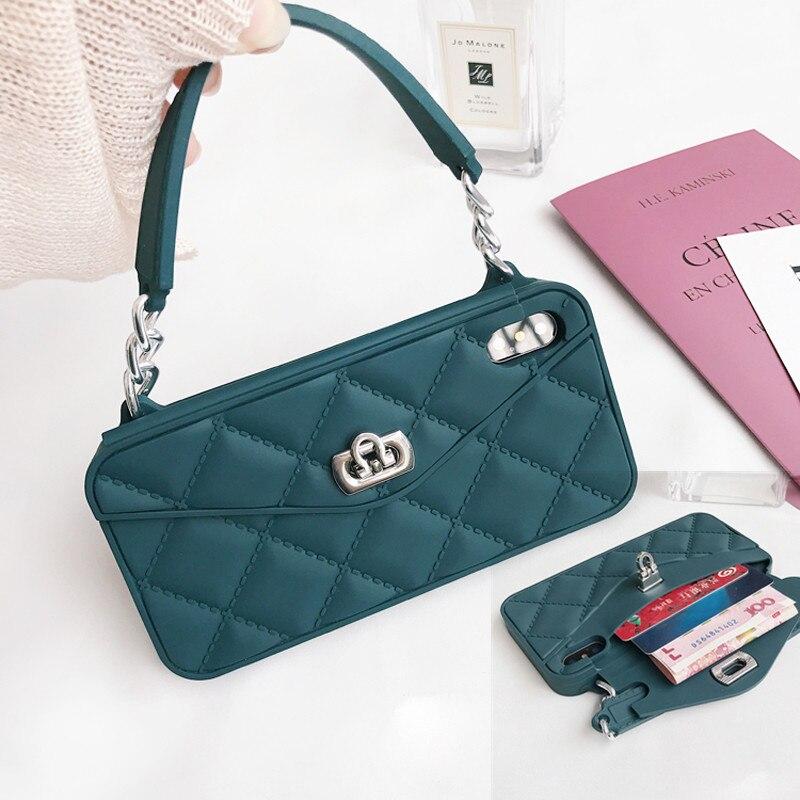 Ritozcase senhora carteira capa para iphone xs max xr x 6s mais 7 8 mais moda feminina cartão bolsa de telefone