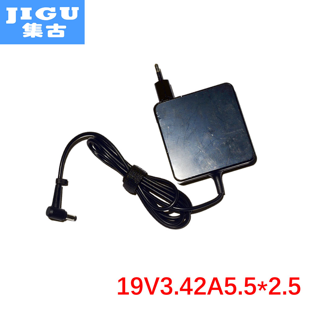 JIGU 19V 3.42A 65w Laptop Charger AC Adapter Power for asus f80 f3 a40 a42 k52 k