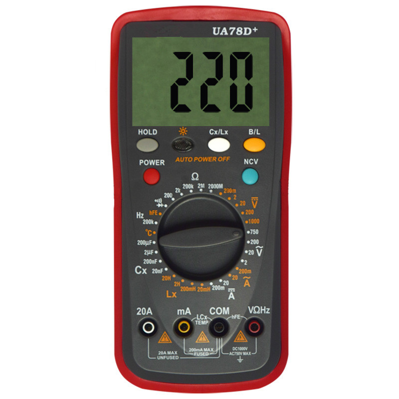 New High Accuracy Digital Multimeter Resistance Capacitance Inductance Precision Ohmmeter ACDC LCR Multimeter With LCD Backlight high precision digital capacitance inductance meter auto ranging component tester 500kh lc rc oscillation inductance multimeter