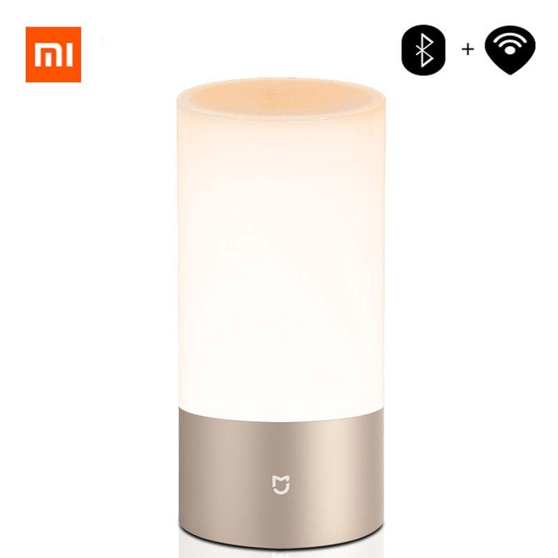 Xiao mi mi jia mi Yeelight lampe de chevet Table de Bureau Intelligent Lumière Intérieure 16 mi llion RGB Touch Control Bluetooth Wifi pour mi maison APP