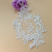 Ivory Lace Appliques Neckline Collar Embroidered Motif Applique Fabrics Venise Sew On Patches Scrapbooking For Dress